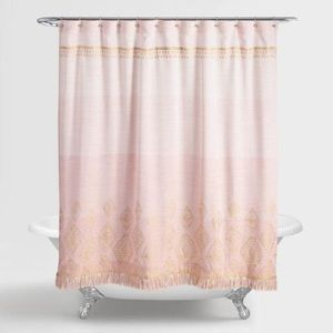 Terracotta And Gold Ombre Shower Curtain